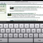 Website-Darstellung auf dem iPad
