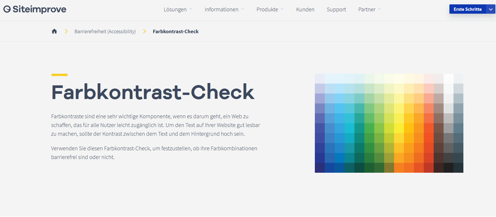 Screenshot Siteimprove Farbkontrast-Checker