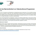 Vergleich Barrierefreiheit von Videokonferenz-Programmen